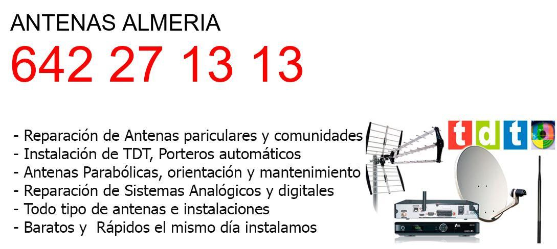 Empresa de Antenas almeria y todo Almeria