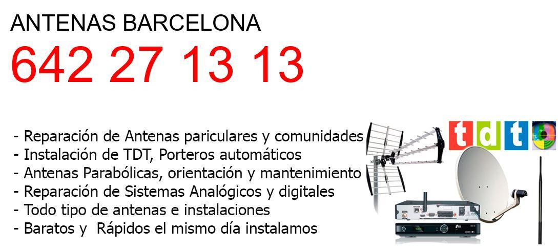 Empresa de Antenas barcelona y todo Barcelona