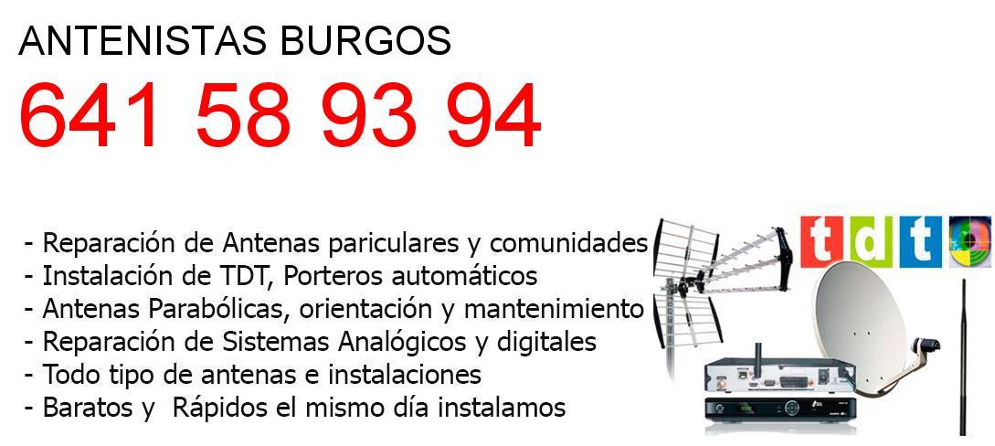 Antenistas burgos y  Burgos