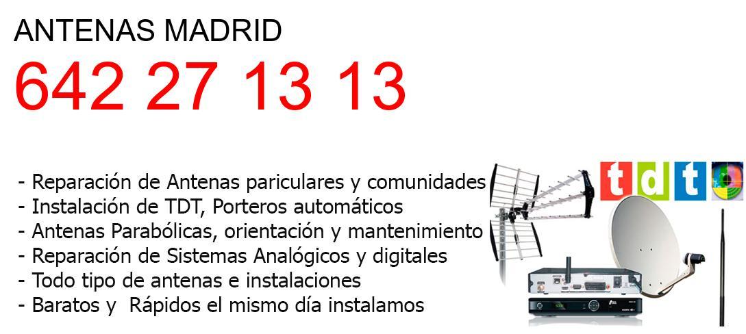 Empresa de Antenas madrid y todo Madrid