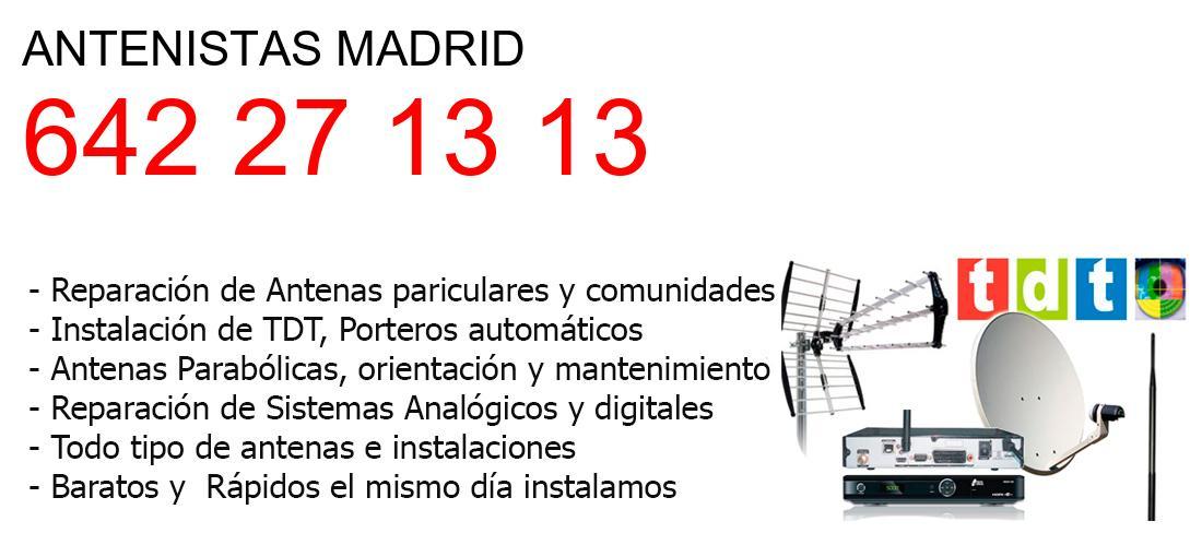 Antenistas madrid y  Madrid