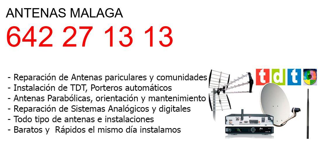 Empresa de Antenas malaga y todo Malaga