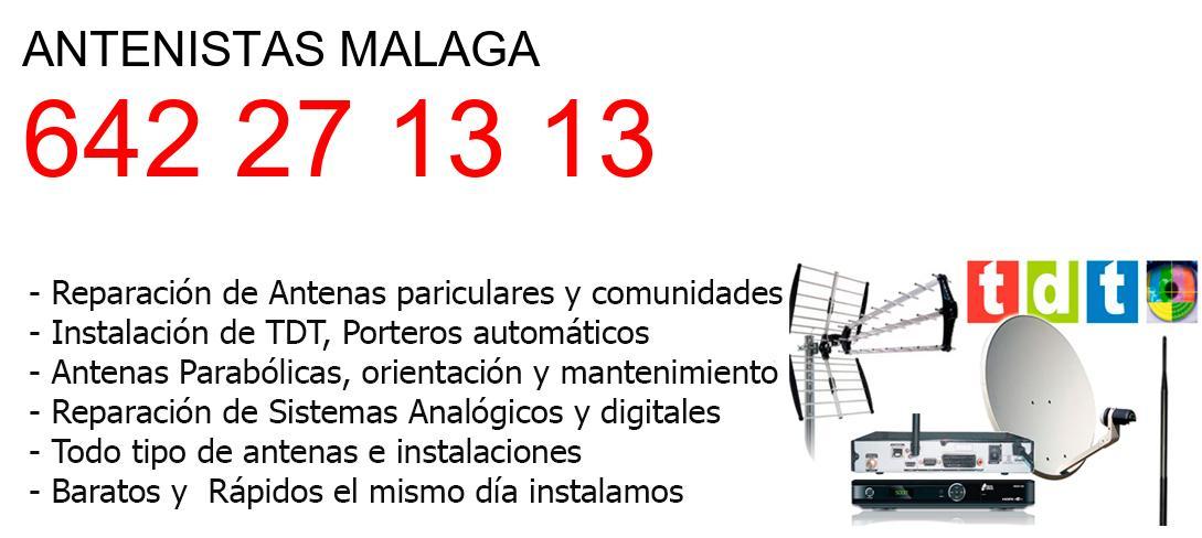 Antenistas malaga y  Malaga