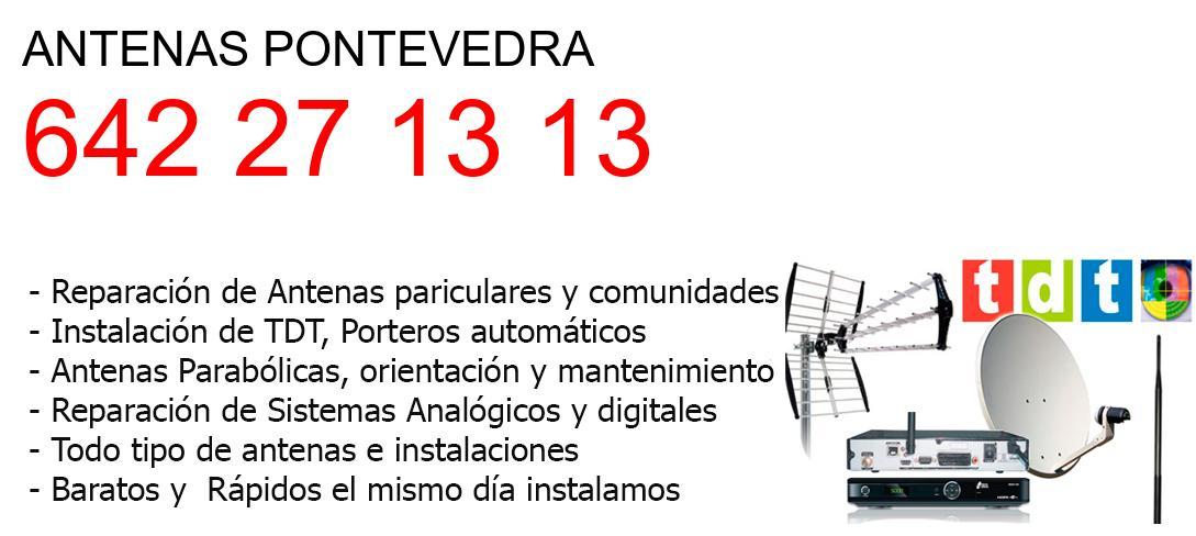 Empresa de Antenas pontevedra y todo Pontevedra