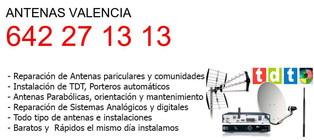 Empresa de Antenas valencia y todo Valencia