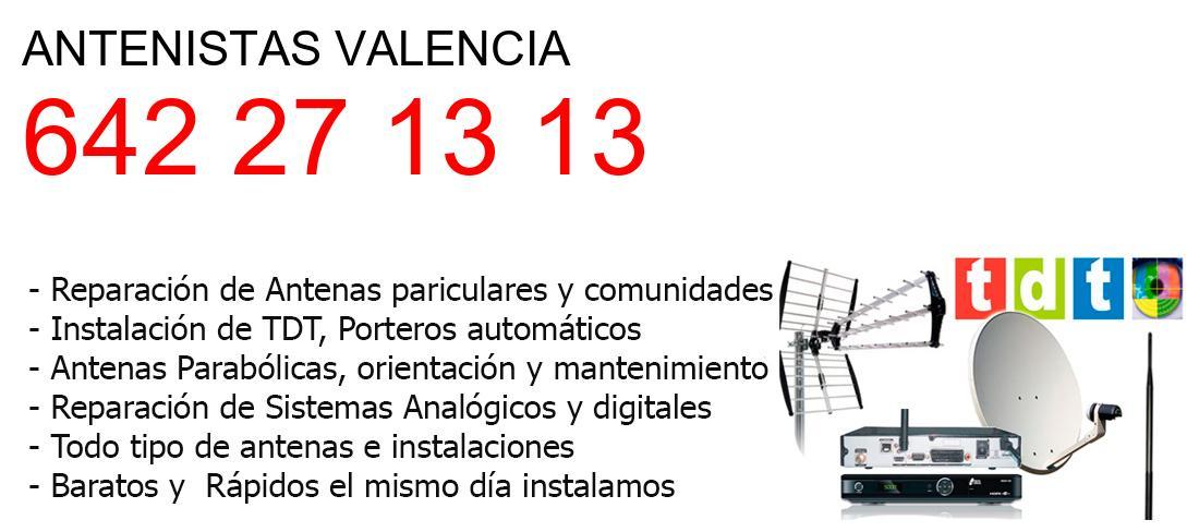 Antenistas valencia y  Valencia